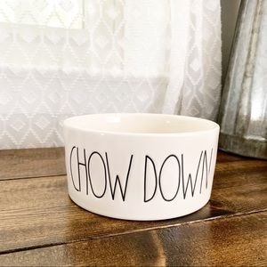 Rae Dunn | Chow Down Pet Dog Cat Food Bowl
